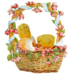 FB7 Chicks out of Eggs in a Basket