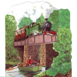 3D-STM3 Great Western Locomotive on Bridge – by Roy Laming