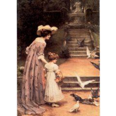 4050 1315 Feeding The Pigeons (by George Sheridan Knowles)