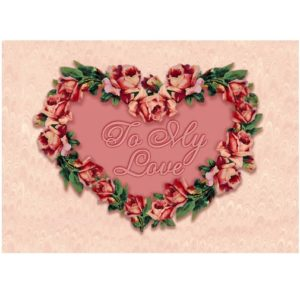4050 2088 Heart with Roses (Gallery Graphics)