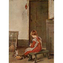 4050 2107 The Little Mother – by GemaldeVon H. Dehmichen
