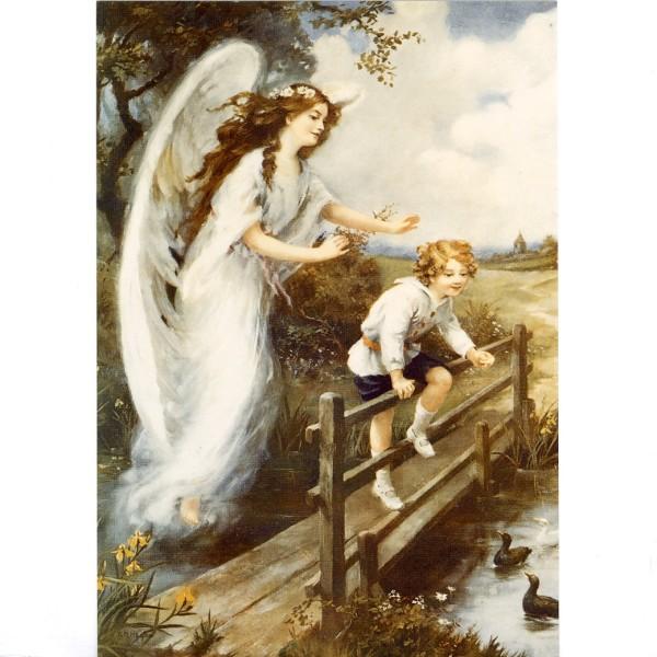 Надписями, ангел-хранитель старинная открытка
