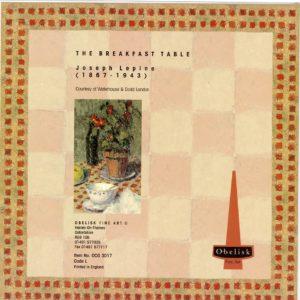 OCG3017 The Breakfast Table – by Joseph Lepine