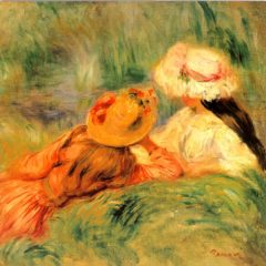 OCG3023 Young Girls on the River Bank – by Auguste Renoir