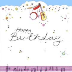 HB12 Musical Instruments Happy Birthday – by Jo Scrivener artwork