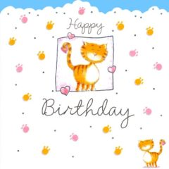 HB16 Cat – Happy Birthday – by Carol Clernon artist