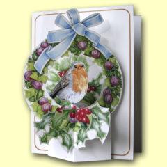 PP401 Robin in Wreath